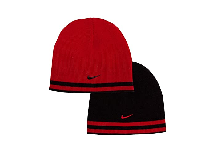 Image Unavailable. Image not available for. Color  Nike Boys Reversible  Striped Beanie Hat ... b1dec421eef