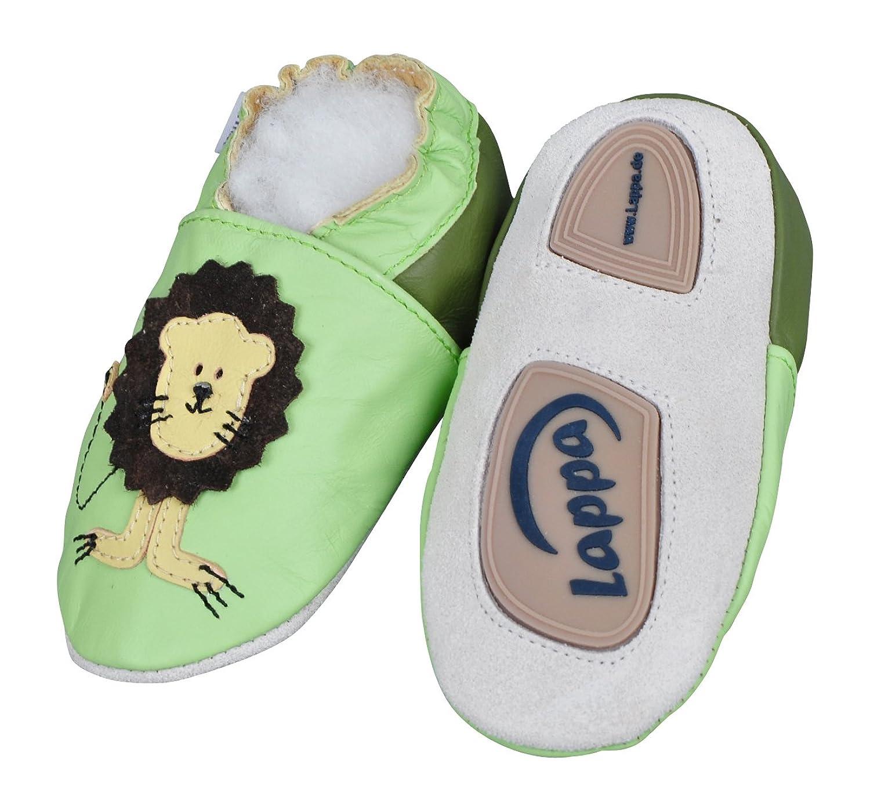 Zapatillas De Cuero Pantuflas Zapatos Infantiles Zapatos de gateo bebé cuero con suela de goma gr.19-31 lappa.de