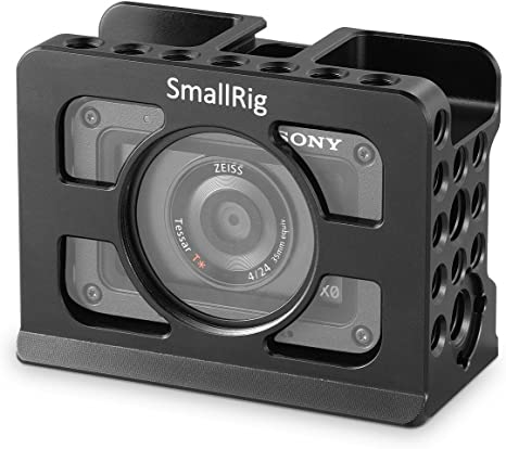 SMALLRIG Jaula RX0 para Sony RX0 Camara Cage con Zapata Flish Incorporada 2106