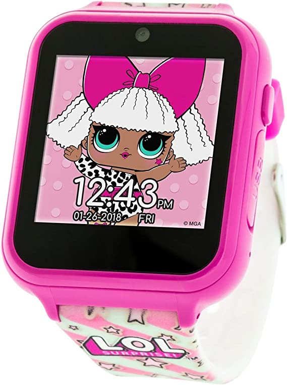 LOL Surprise! Touch-Screen Smartwatch, Built in Selfie-Camera, Easy-to-Buckle Strap, Pink Smart Watch - Model: LOL4104