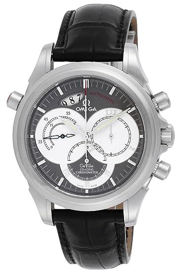 reputable site a3257 f4c4c [オメガ] 腕時計 デ・ビルコーアクシャルラトラパンテ 自動巻 クロノグラフ 4848.40.31 並行輸入品 ブラック