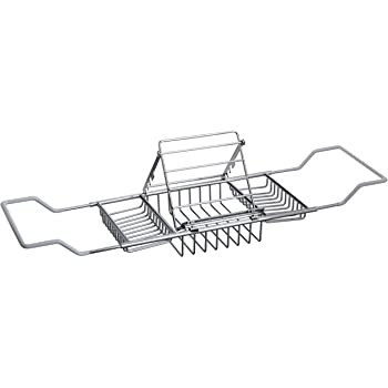 Amazon.com: Taymor Chrome Bathtub Caddy with Reading Rack: Taymor ...