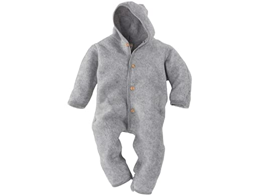 31d0c72c9 Amazon.com  Merino Wool Organic Fleece Baby Newborn Romper Hooded ...