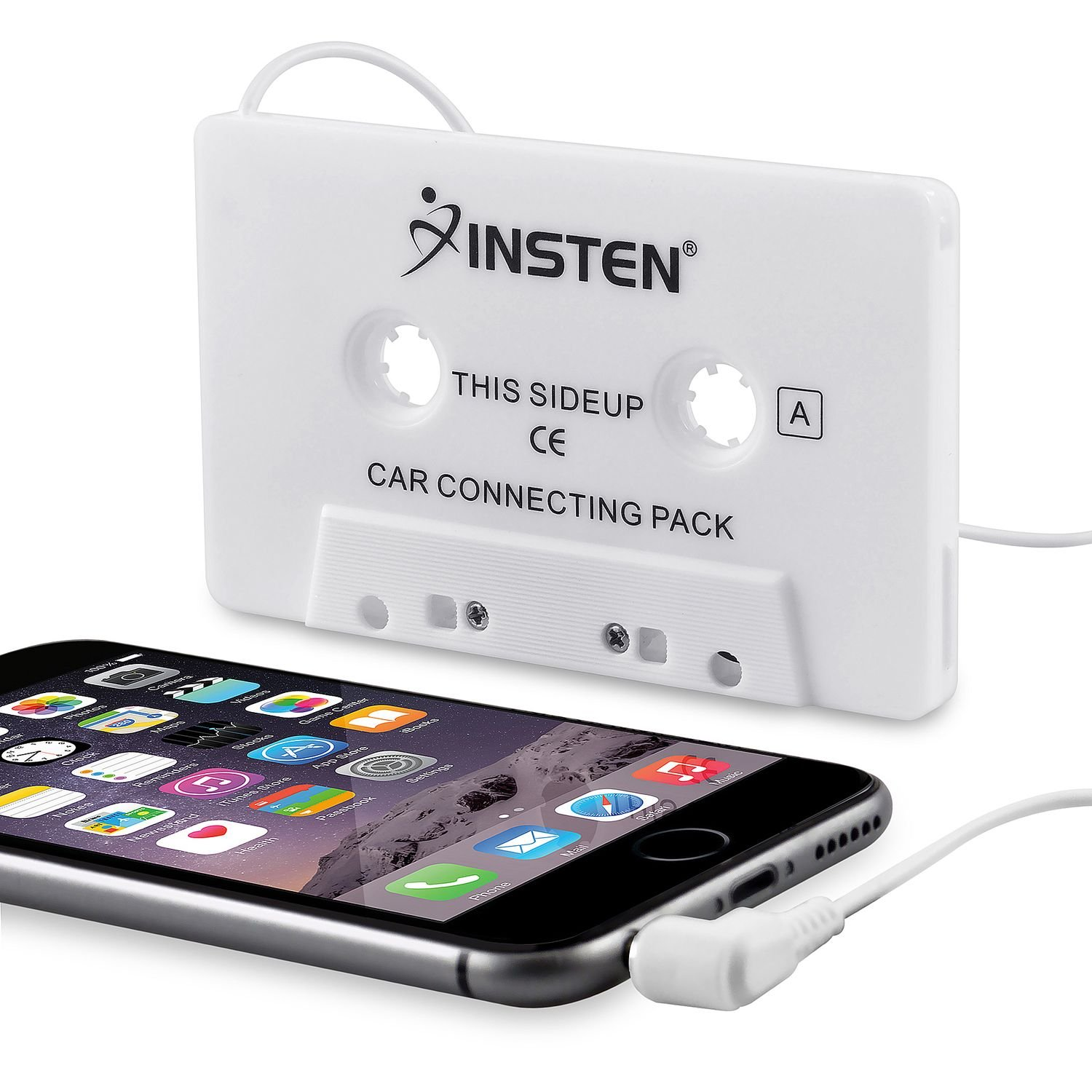 Insten Car Cassette Tape Deck Adapter Compatible with 3.5mm Jack Audio MP3/CD Player 2144684