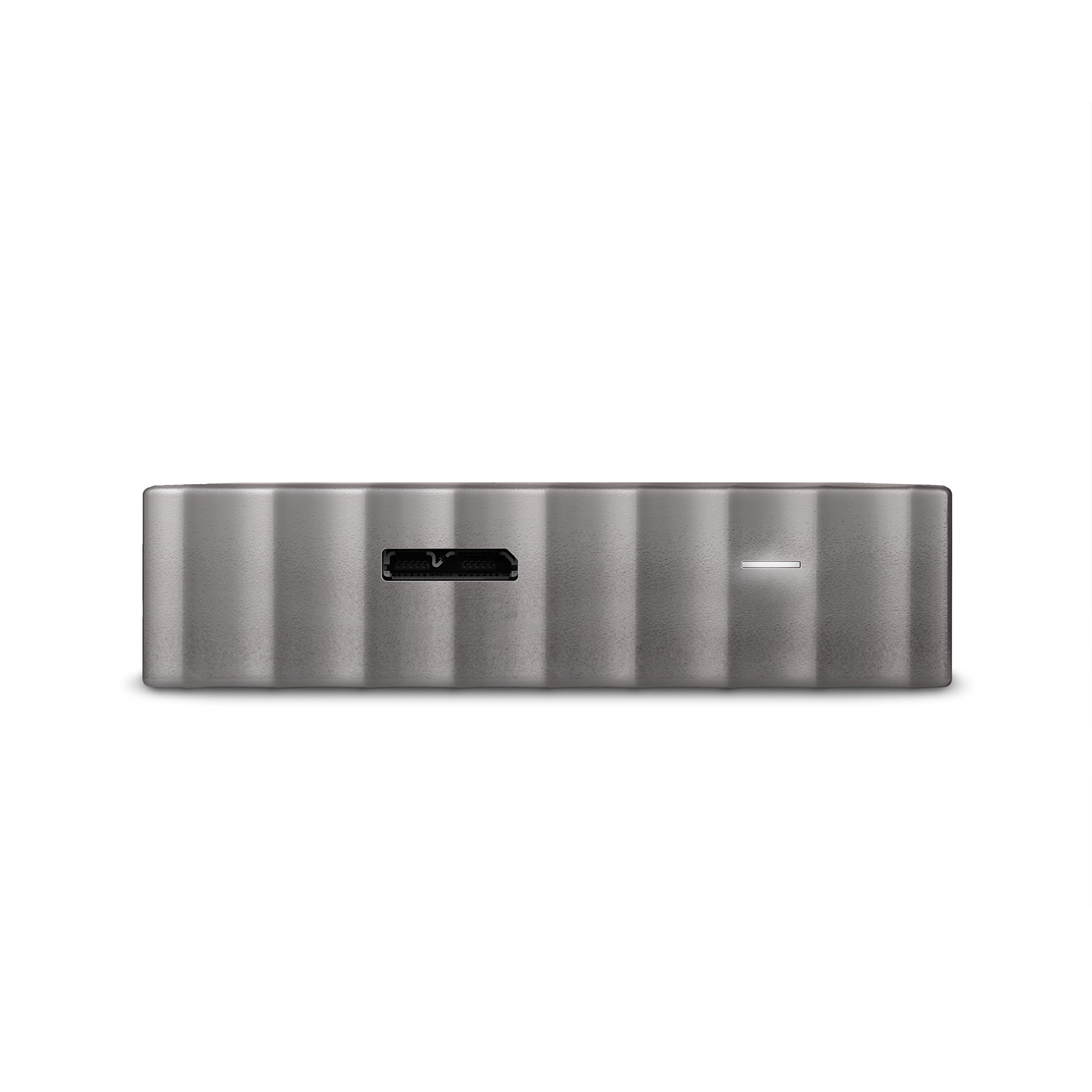 WD 1TB Black-Gray My Passport Ultra Portable External Hard Drive - USB 3.0 - WDBTLG0010BGY-WESN (Old Generation) by Western Digital (Image #4)