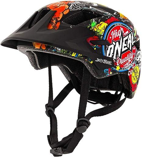 ONeal ROOKY Youth Crank - Casco Bicicleta para Niños, Negro, M: Amazon.es: Deportes y aire libre