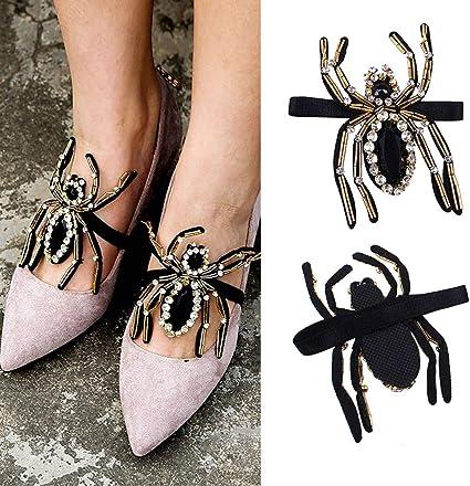 1 pair woman shoes Bridal high heel flats sandal Rhinestone Shoes Charms Clips