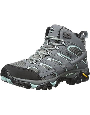 7174435e220 Merrell Women's Moab 2 Mid Gore-Tex High Rise Hiking Boots, Green ...