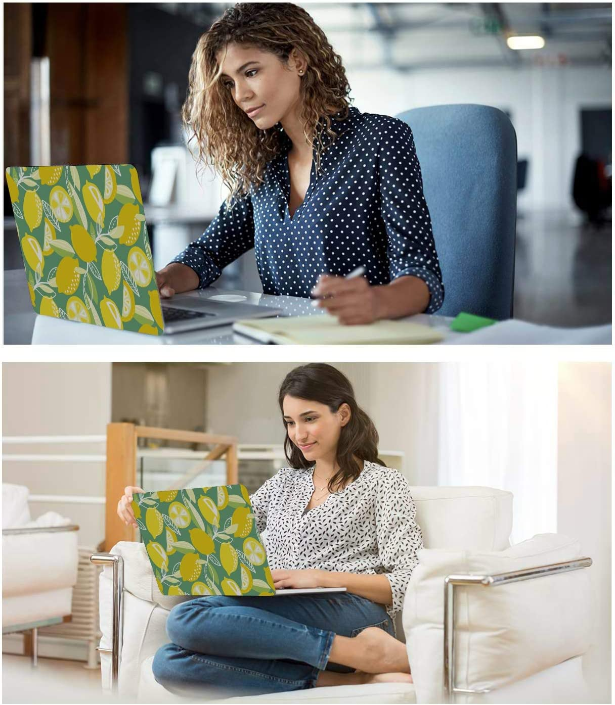 Mac Book Pro Cases Summer Sour Retro Cute Fruit Lemon Plastic Hard Shell Compatible Mac Air 11 Pro 13 15 MacBook Pro 13in Case Protection for MacBook 2016-2019 Version