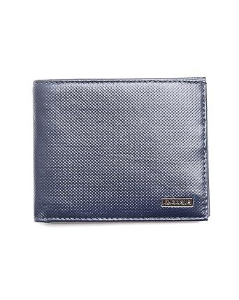 Lacoste - Cartera hecho de cuero para hombre, talla única, color azul -: Amazon.es: Ropa y accesorios