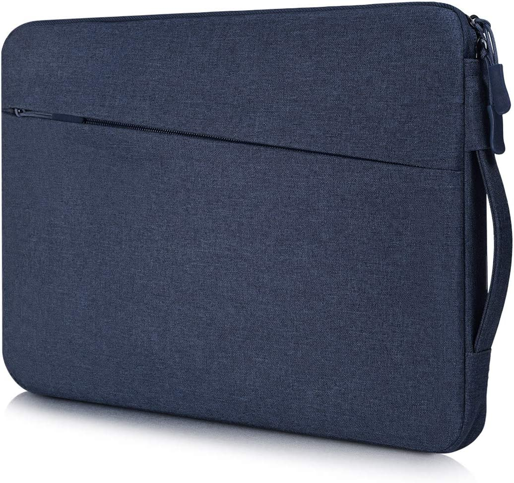 13-13.3 Inch Waterproof Laptop Case for Men Women Carrying Bag for Dell XPS 13 7390 9380, HP Envy 13/Pavilion 13, Surface Laptop 3/Book 3 13.5, ASUS Zenbook 13, Lenovo Acer LG 13.3 Notebook Case, Blue