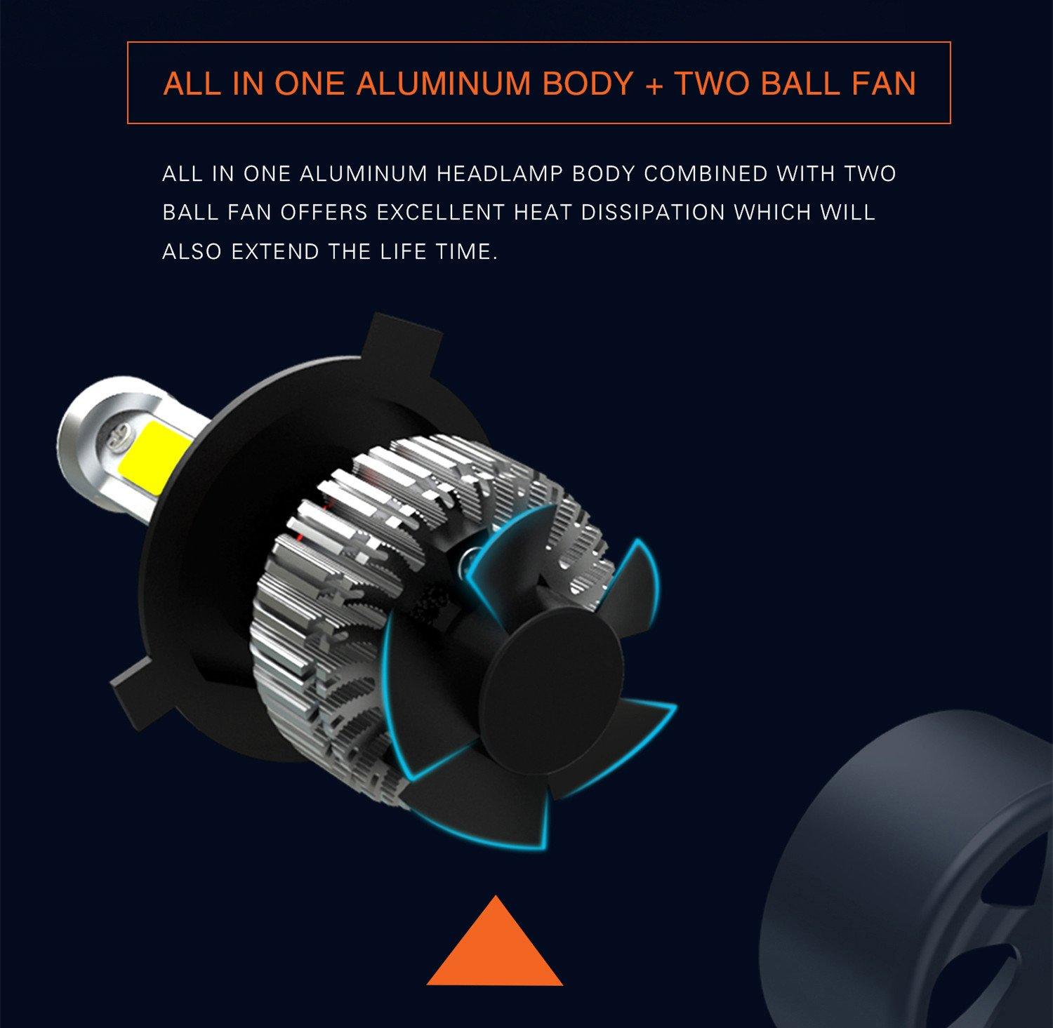 Alla Lighting Extremely Super Bright High Power CSP Chipset HB5 9007 9007LL LED Headlight Bulbs w// 8000Lm 6500K Xenon White for Replacing High Low Beam Halogen Headlamp All-in-One Conversion Kits .
