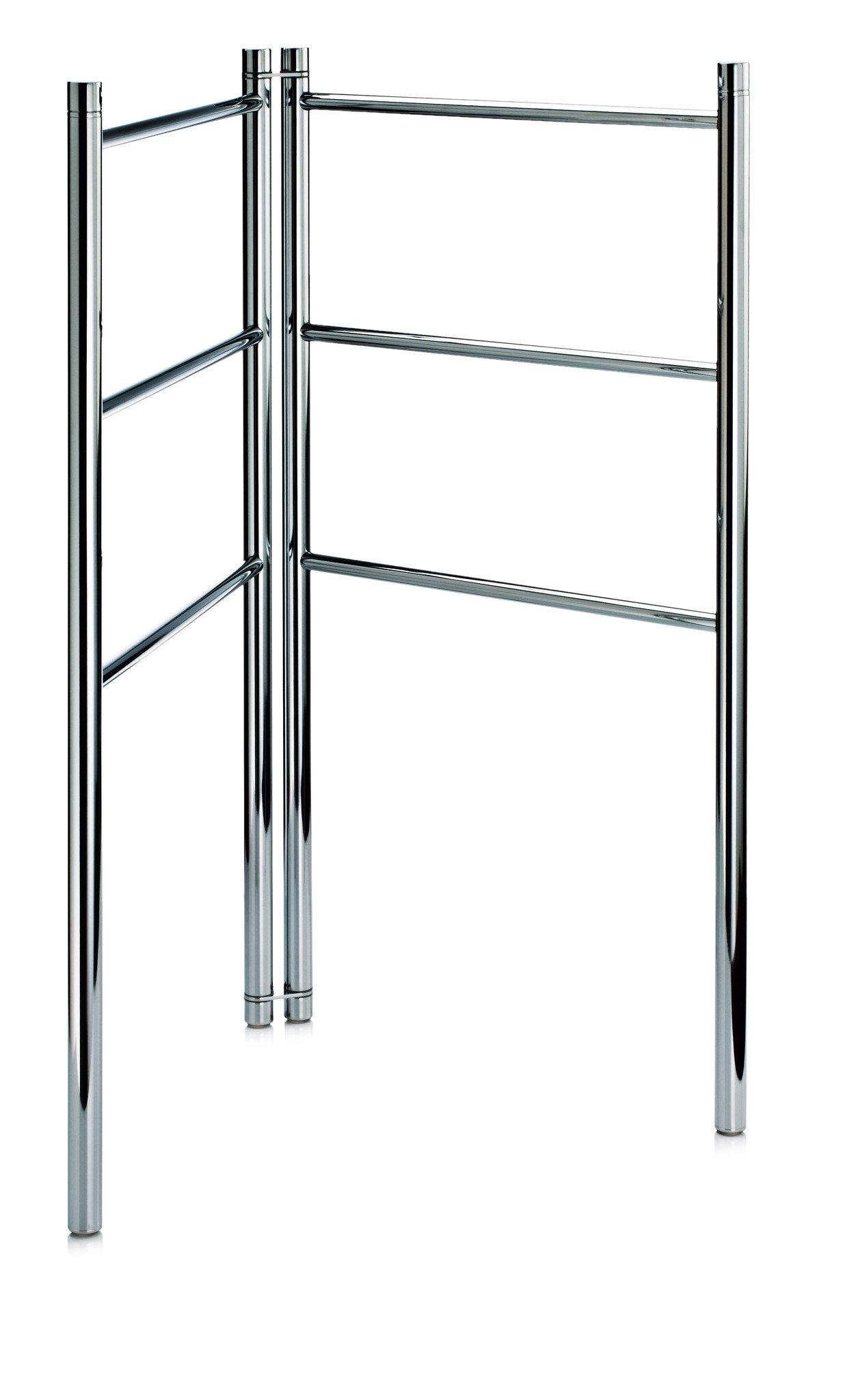DWBA Standing Towel Ladder Bathroom Rack Stand Towel Holder, Foldable. Chrome