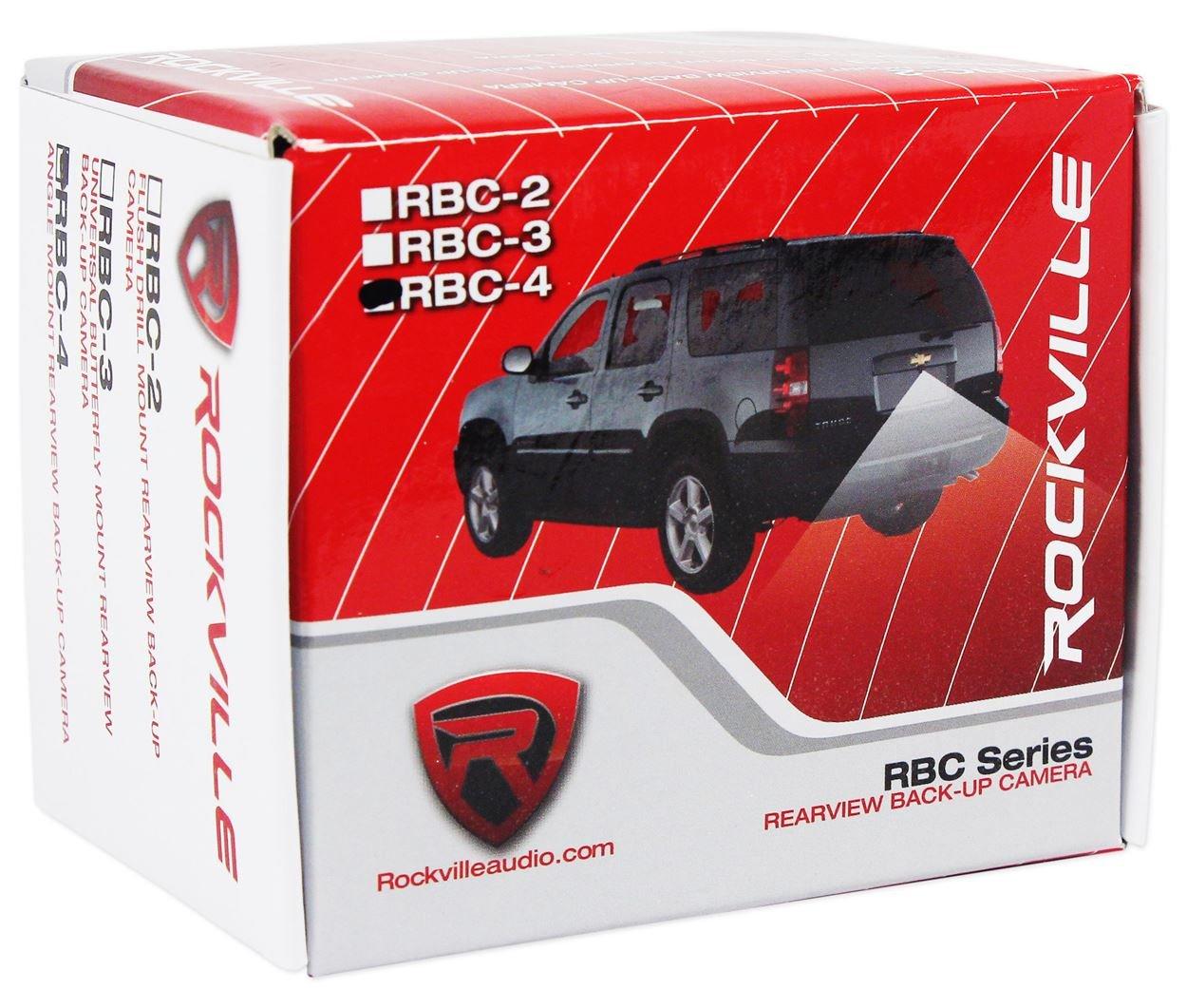 Rockville RBC5B Black Metal Car License Plate Camera+Night Vision+Distance Lines Audiosavings