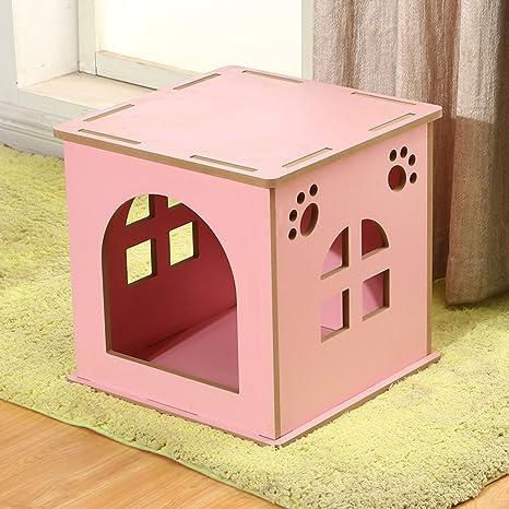 SL&ZX Caja De Madera Perro,Medio Perrera Casa del Animal Doméstico Al Aire Libre Impermeable