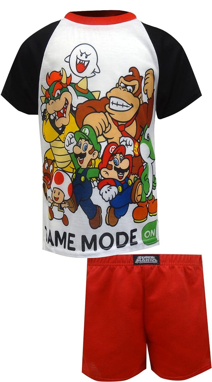 Super Mario Brothers Boys 2-Piece Pajamas 4 NE111BSS4