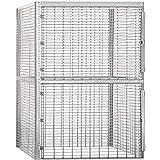 Salsbury Industries Bulk Storage Locker Double Tier Starter, 36-Inch, 48-Inch