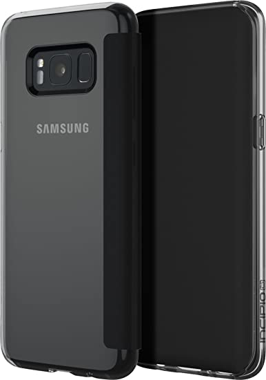 hot sale online 95cdc 6e317 Samsung Galaxy S8 Case, Incipio [Flexible] [Impact Resistant] NGP Folio  Case for Samsung Galaxy S8-Clear/Black