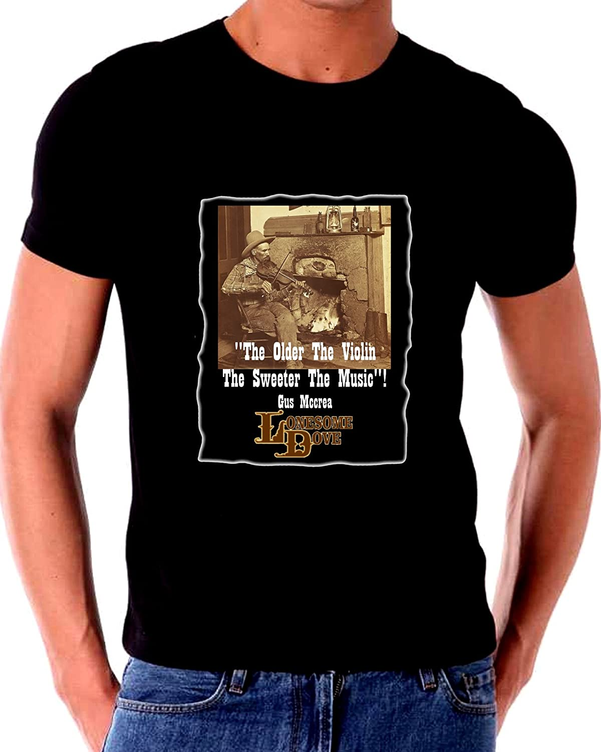 Lonesome Dove Older Violin the Sweeter The Music T Shirt