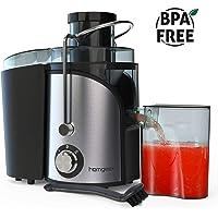 Homgeek Centrifuga, Centrifuga Frutta Verdura, 2 Livelli di Velocità e Protezione da Surriscaldamento, Design Anti-shake, Contenitore per Succhi da 500ml e Spazzola per la Pulizia, Senza BPA