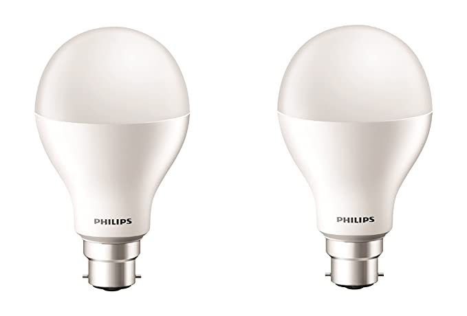 Philips 17-Watt LED Bulb (Pack of 2, Cool Day Light)