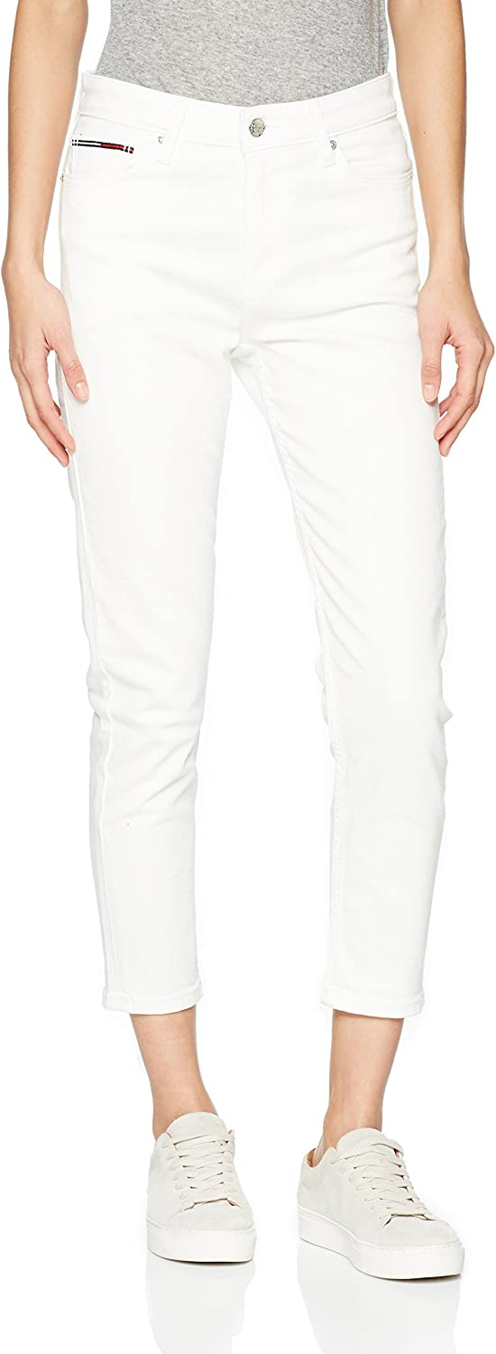 TALLA 26W / 32L. Tommy Jeans High Rise Izzy Vaqueros Slim para Mujer