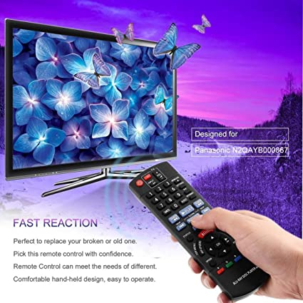 Reemplazo del Control Remoto de Smart TV para Panasonic N2QAYB000867 DMP-BD89 DMP-BD79 Disco de BLU-Ray Reproductor de DVD Partes de Control (Color: Negro): Amazon.es: Electrónica