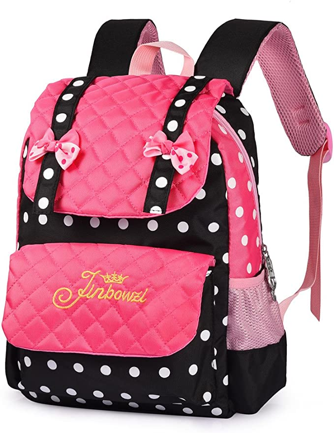 Personalized Girls School Backpack Navy and White