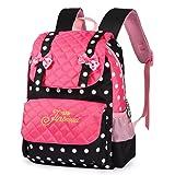 Vbiger Casual School Bag Children School Backpacks for Teen Girls Pink-black)