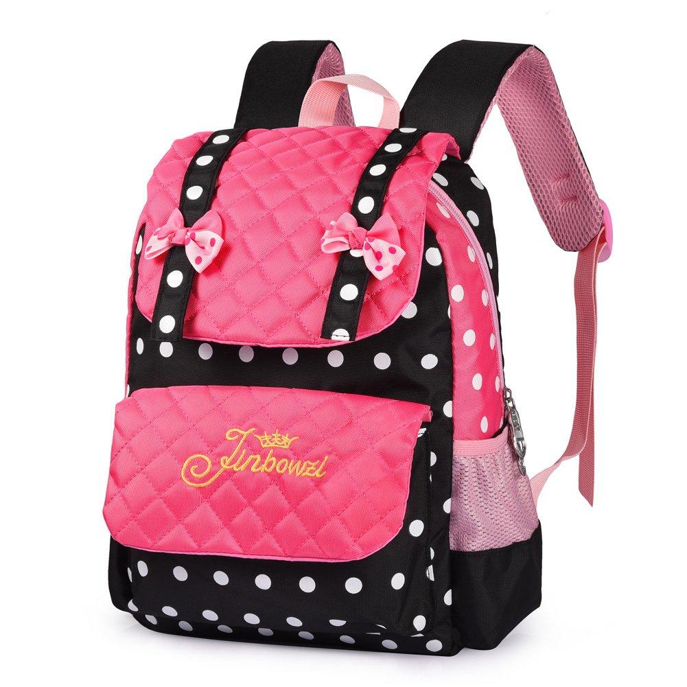 Vbiger Casual School Bag Children School Backpacks for Teen Girls Pink-black) by VBIGER