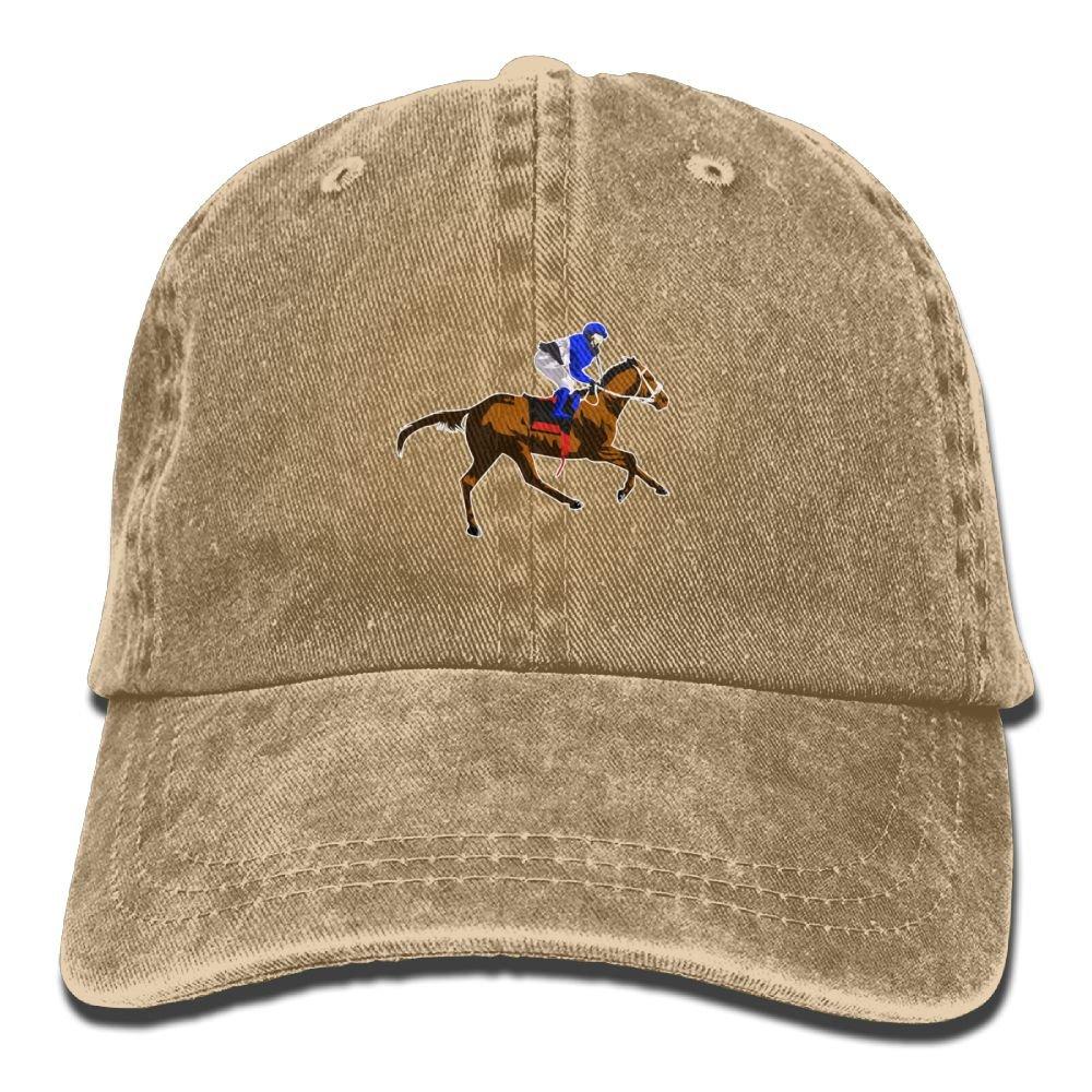 Mens Or Womens Horse Riding Denim Fabric Baseball Hat Adjustable Hip Hop Caps