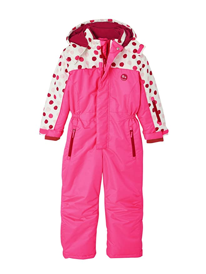 bc24b95a5ba Vertbaudet Girls  Ski Jumpsuit Pink Bright Solid 18M 2Y (86CM)   Amazon.co.uk  Clothing