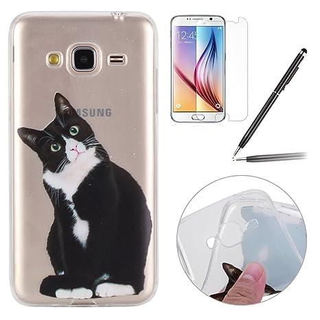 custodia samsung j3 2016 gatto