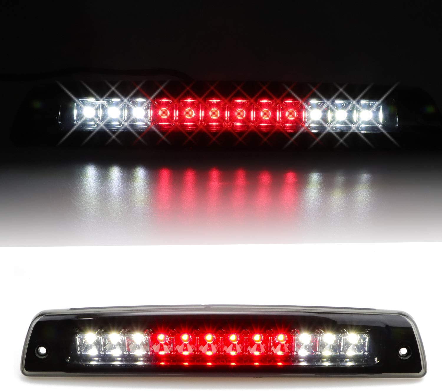 Hight Mount Stop Light Third 3rd Brake Reverse Lights LED Lamp Replacement For 1994-2001 Dodge Ram 1500 2500 3500 Cargo Lights electroplate Cover Smoke Lens