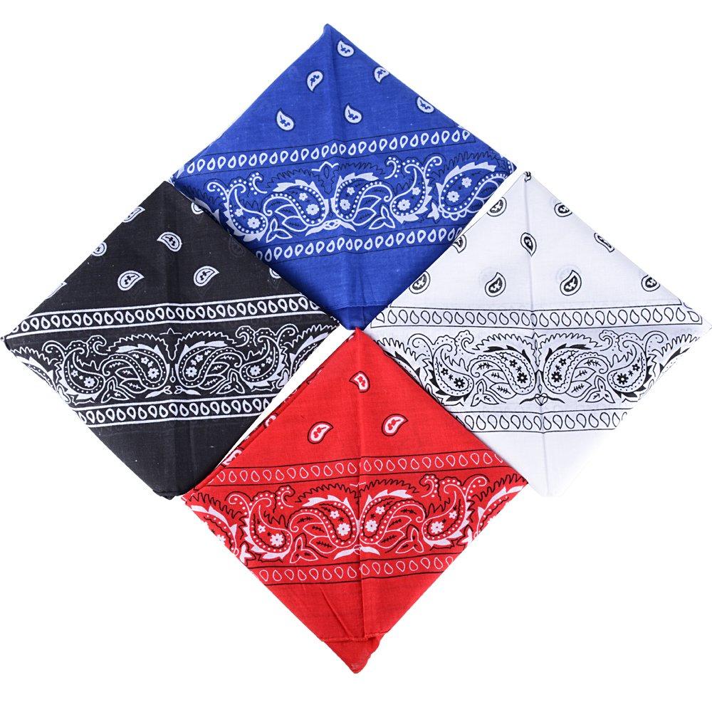 55cm*55cm QUMAO Bandanas Paisley Multicolore 100/% Coton Bandana Cheveux Bandeau Bandannas Foulard Fichu Mouchoir Echarpe Cadeau Homme Femme No/ël