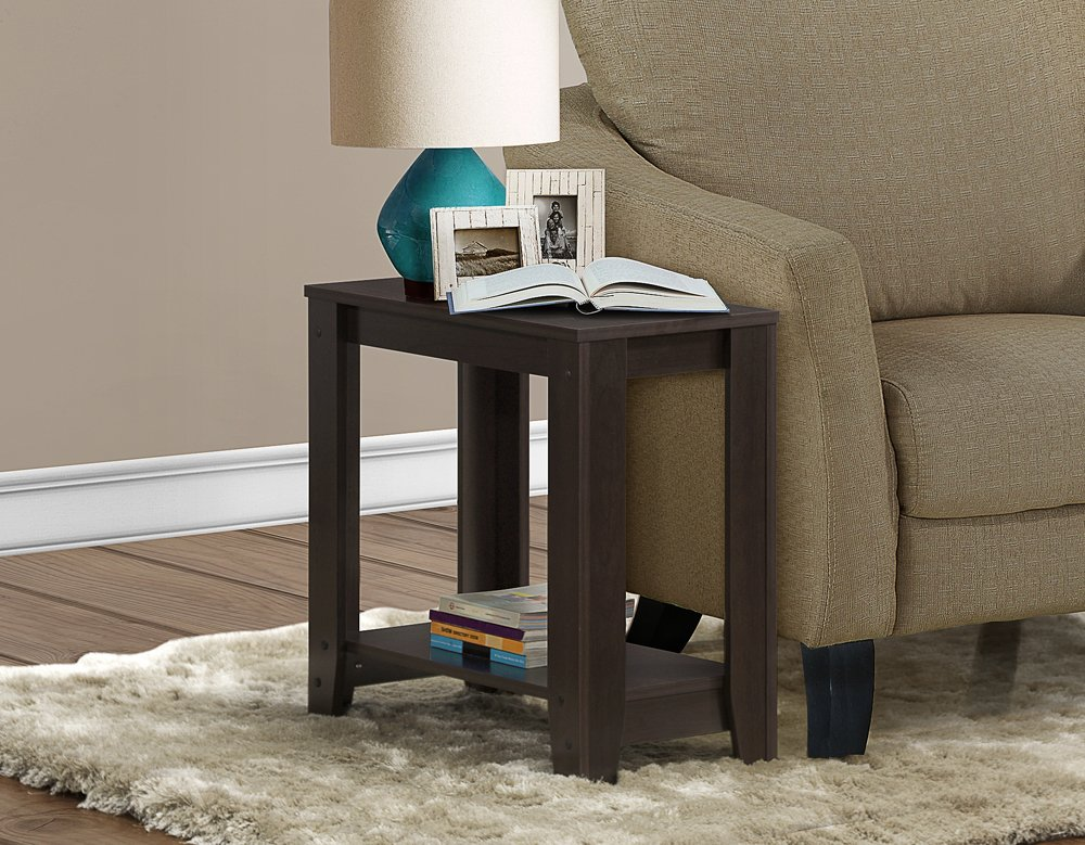 Amazon.com: Monarch Specialties Cappuccino Accent Side Table: Kitchen U0026  Dining