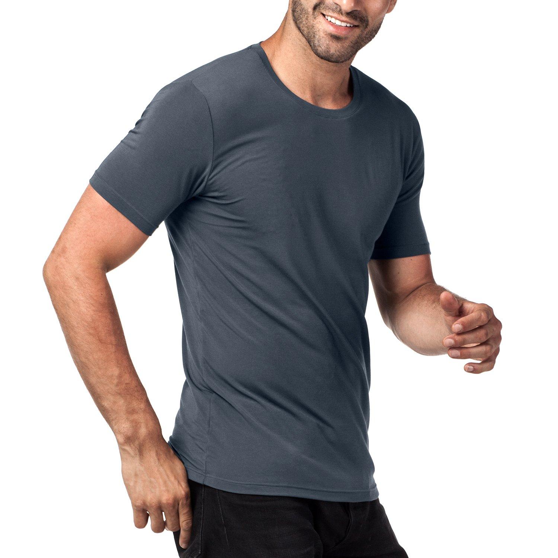 Micro Modal Undershirts Short Sleeve T-Shirt M07 Super Soft and TAG Free LAPASA 2 Pack Mens Vests M08