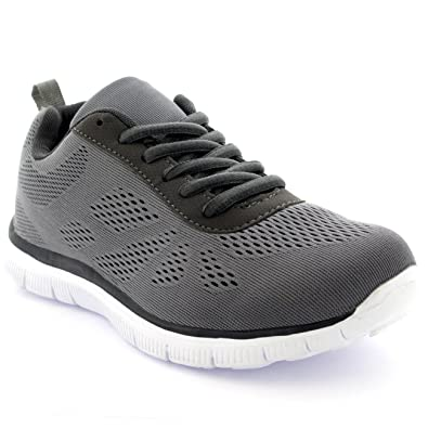 5fb6ee97e3909 Womens Get Fit Mesh Running Trainers Athletic Walk Gym Shoes Sport Run -  Grey - 3