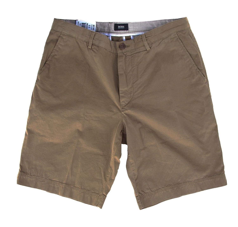 c299cb12e Amazon.com: Hugo Boss Mens Clyde 1-d Khaki Beige Cotton Stretch Regular Fit  Shorts Pants (38): Clothing