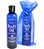 Sublime Beauty DAILY BODY OIL, 8 Oz. Blend of 5 Pure Oils with No Preservatives. Moneyback Guarantee.