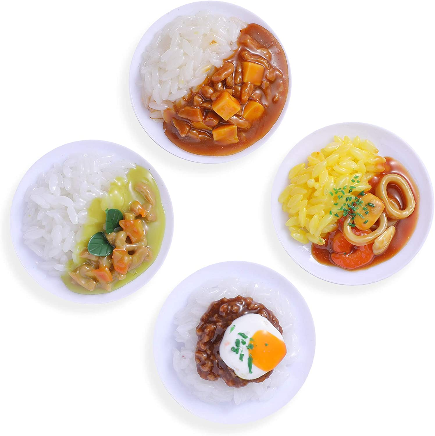 Hey Foly Cute Refrigerator Magnets Funny Magnets for Fridge, Simulation Rice Bowl Refrigerator Magnet, Fine for Whiteboards, Maps and Home Decoration Magnetic Objects and Even Simulating Food Games