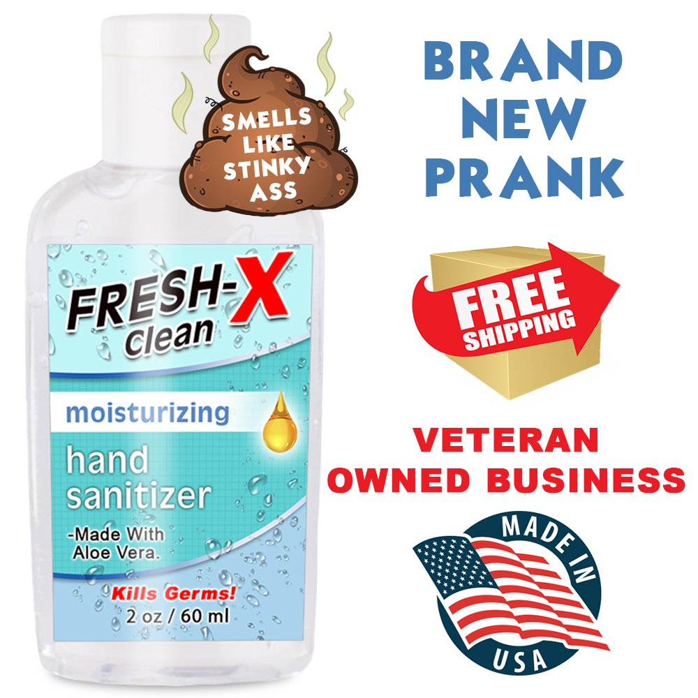 Amazon.com: Stinky Ass Hand Sanitizer Prank - 2 oz - Looks Normal But  Smells Like Ass - Real Hand Sanitizer - Smells Gross - Funny Gag - Great  New Prank ...