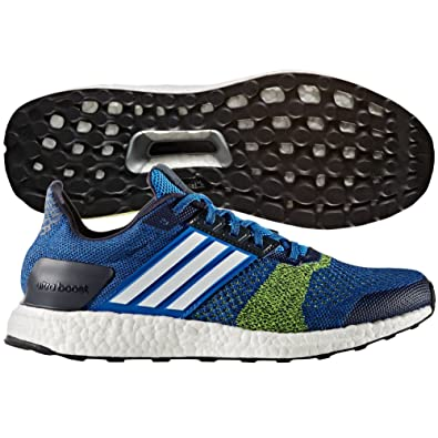 on sale 055f1 db74e adidas Ultra Boost ST Running Shoe - Mens BlueWhiteSolar Yellow, ...