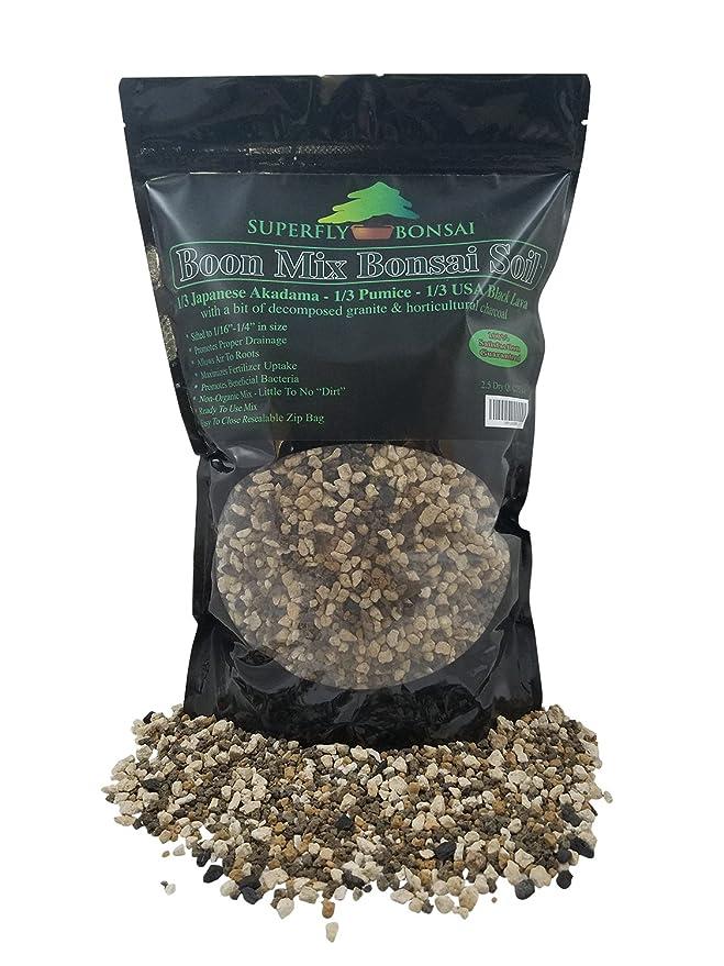 Inorganic Substrate With Pumice Lava and Akadama 2.5 Dry Quarts Boon Bonsai Soil Mix Boon Mix