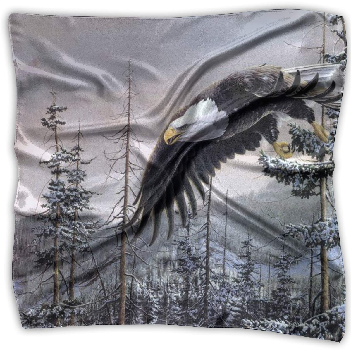 Bald Eagle Square Women Scarves Silk Skin Head Scarf For Spring Summer Size S M O4S8C131