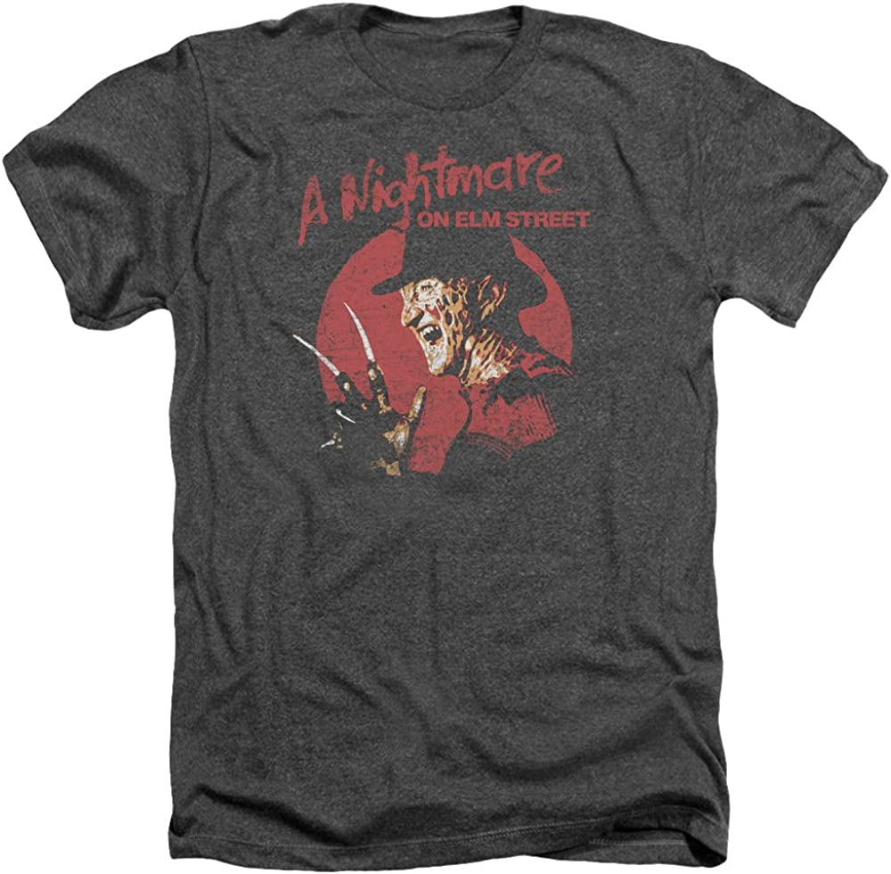 A Nightmare on Elm Street Movie FREDDY CLAWS Adult Heather T-Shirt All Sizes