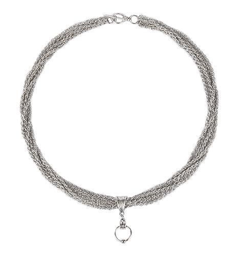 Halskette 'BELLATRIX' 50004 Collar Necklace SM Gothic Ring der O Kette Fetisch O-Ring BDSM Sklave Fetish Meister Sub Dom