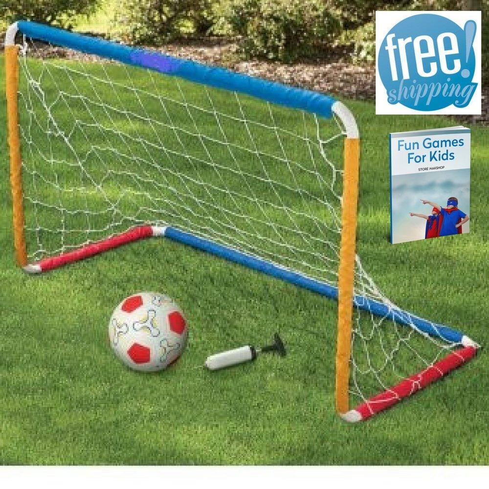 小さなサッカーの目標裏庭セットゲート調節可能なキッズ用ガールズボーイズ幼児用ボールポータブルミニNet Football SunアウトドアインドアおもちゃゲームJunion一致トレーニング練習、eBook by nakshop B073KS786V