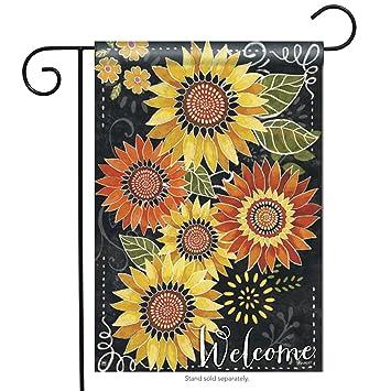 Breeze Art Sunflower Chalkboard Garden Flag 32771