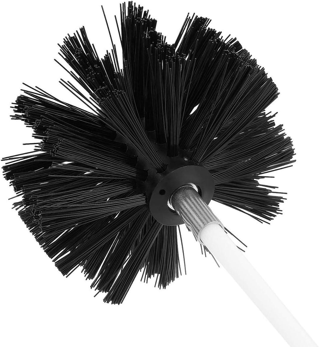 Gojiny Tubo de Limpieza de La Chimenea de Chimenea Conjunto de Cepillo de Barrido Kit de Limpieza de Conducto Seco Removedor de Pelusa